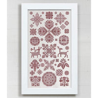 Through the Bitter Frost and Snow Sampler Cross Stitch Pattern - Digital Download