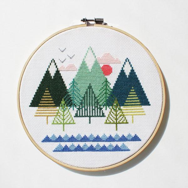 Sea to Sky Cross Stitch Pattern - Digital Download