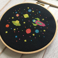 Outer Space Cross Stitch Pattern - Digital Download