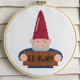 Angry Gnome Cross Stitch Pattern - Digital Download