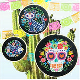 Day of the Dead Cross Stitch Pattern - Digital Download