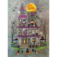 Haunted Mansion Halloween Cross Stitch Pattern - Digital Download