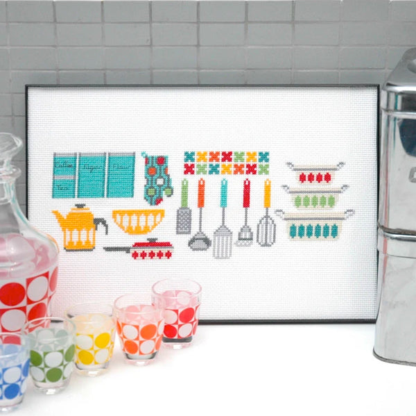 Kitchen Gadgets Cross Stitch Pattern - Digital Download