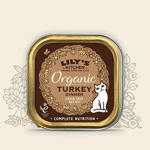 Lily's Kitchen Organic Turkey Dinner for Cats 85g (NEW)