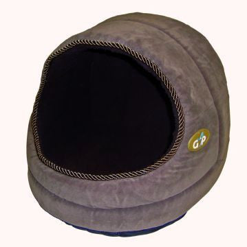 Hooded Cat Bed from Gorpets Large Brown Suede