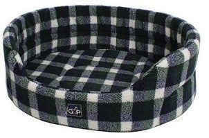 "Gorpets Open Cat Bed ""Highland Collection"" Spring Check 51cm"