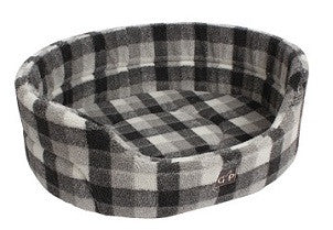 "Gorpets Open Cat Bed ""Highland Collection"" Winter Check 51cm"