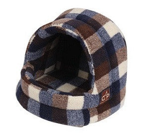 "Gorpets Highland Collection Large Hooded Cat Bed ""Autumn Check"""