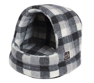 "Gorpets Highland Collection Large Hooded Cat Bed ""Winter Check"""