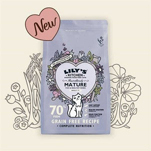 Lily's Kitchen Marvelously Mature Complete Dry Food for Cats NEW