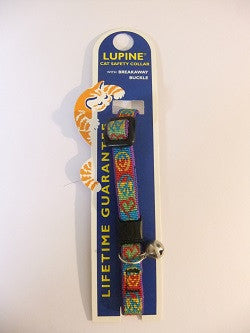"Lupine Cat Safety Collar with Bell ""Peace"""