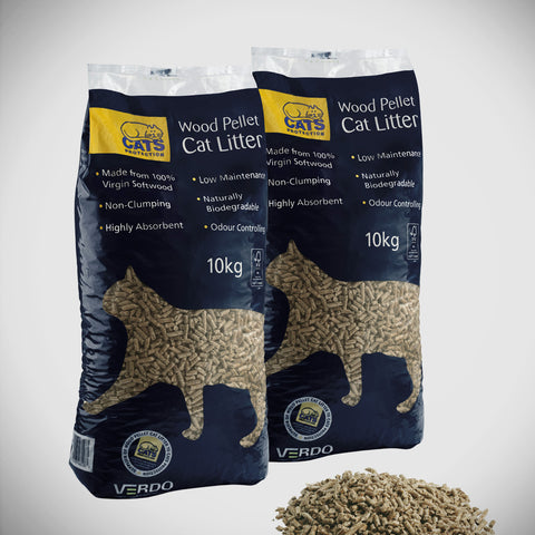 Wood-based Cat Litter 10kg by Verdo ( sold as 4x10kgs for £18 click & collect only )