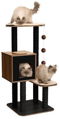 Vesper Cat Furniture V-high Base Black 56x56x121.5cm