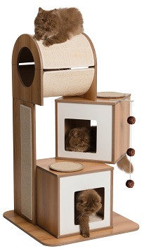 Vesper Cat Furniture V-tower Walnut 65x65x117.5cm