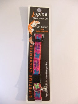 "Lupine Cat Safety Collar with Bell ""Wing It"""
