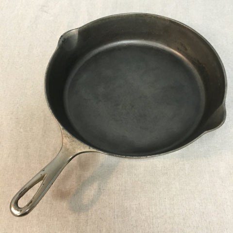 #9 Erie Nickel-Plated Cast Iron Skillet