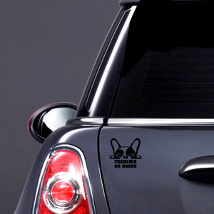 "Autoadhesivo  ""FRENCHIE ON BOARD"""