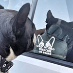 "Lade das Bild in den Galerie-Viewer, ""FRENCHIE ON BOARD"" Autoaufkleber"