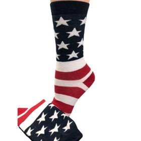 American Flag Patriotic Socks Made in USA