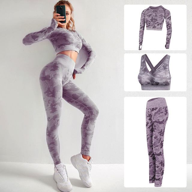 FitSuit™ Yoga Camo Seamless Fitness Suit - MYPOPDEALS