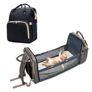 Diaper Bag Backpack + Baby Portable Bed - MYPOPDEALS