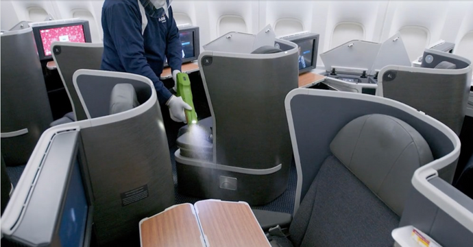 American Airlines: Learn how electrostatic spraying works