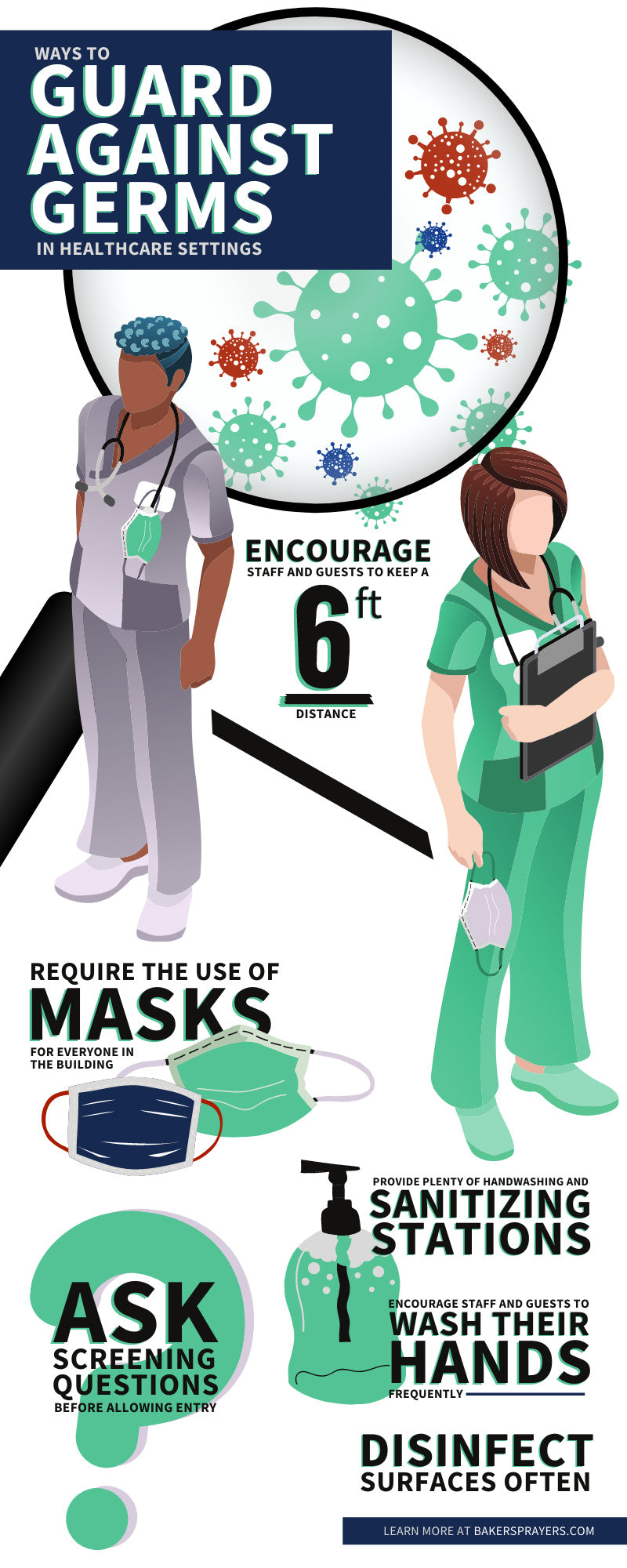 Ways To Guard Against Germs in Healthcare Settings infographic
