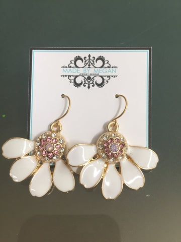 Fluer Earrings - Gold Plated