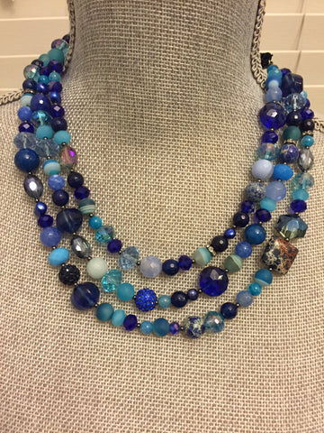 Mardi Gras Necklace - Blue Edition
