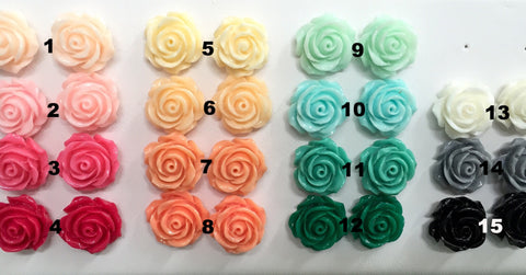 Rosette Studs - Choose Your Favourite Colour!