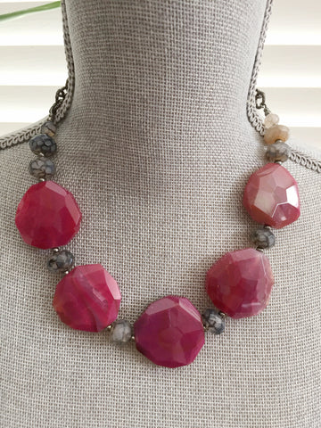 Rock Candy Necklace - Pink Edition