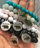 """Mama Bear"" Bracelet - Multiple gemstone options!"