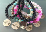 """Coffee is Life"" Bracelet - Multiple gemstone options!"