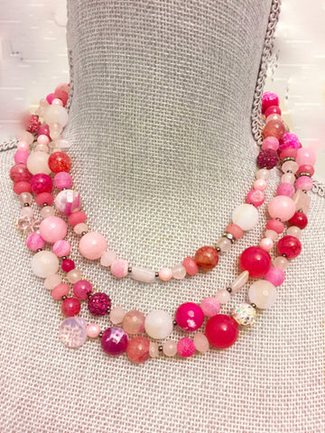 Mardi Gras Necklace - Pink Edition