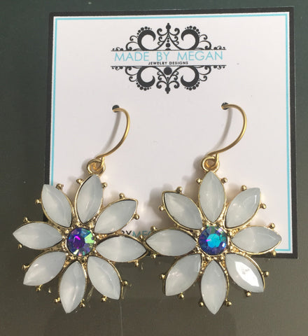 Flower Earrings - Gold Plated