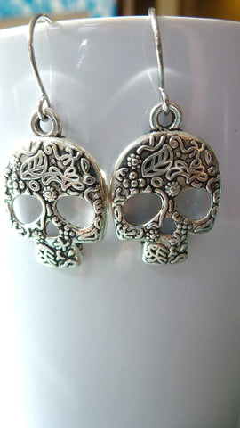 Mini Sugar Skull Earrings