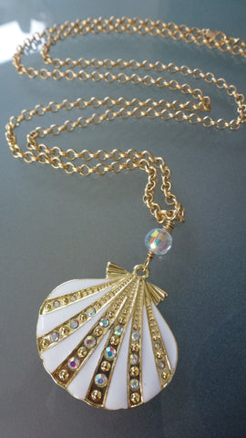 Seashell Necklace - Long Layering Necklace