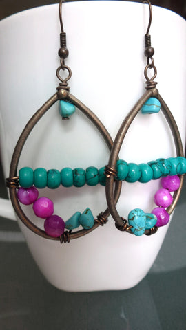 Bold Boho Gemstone Earrings