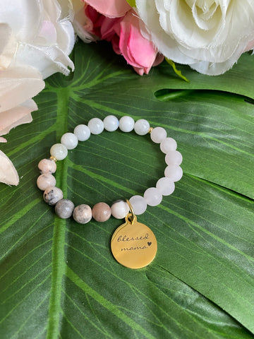 Blessed Mama Bracelet - Gold toned charm