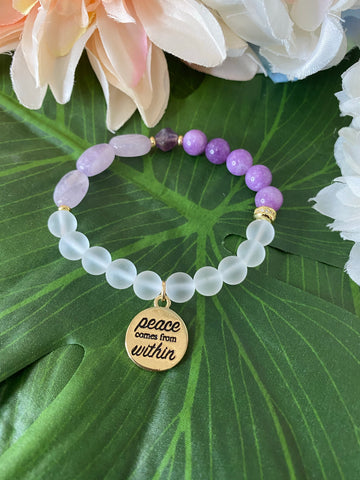 """Peace comes from within"" Bracelet"