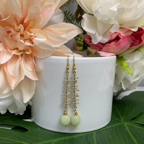 Evona Earrings - Jade