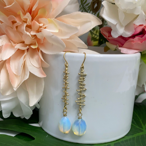 Evona Earrings - Opalite