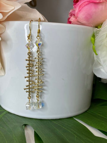 Evona Earrings - Crystal edition