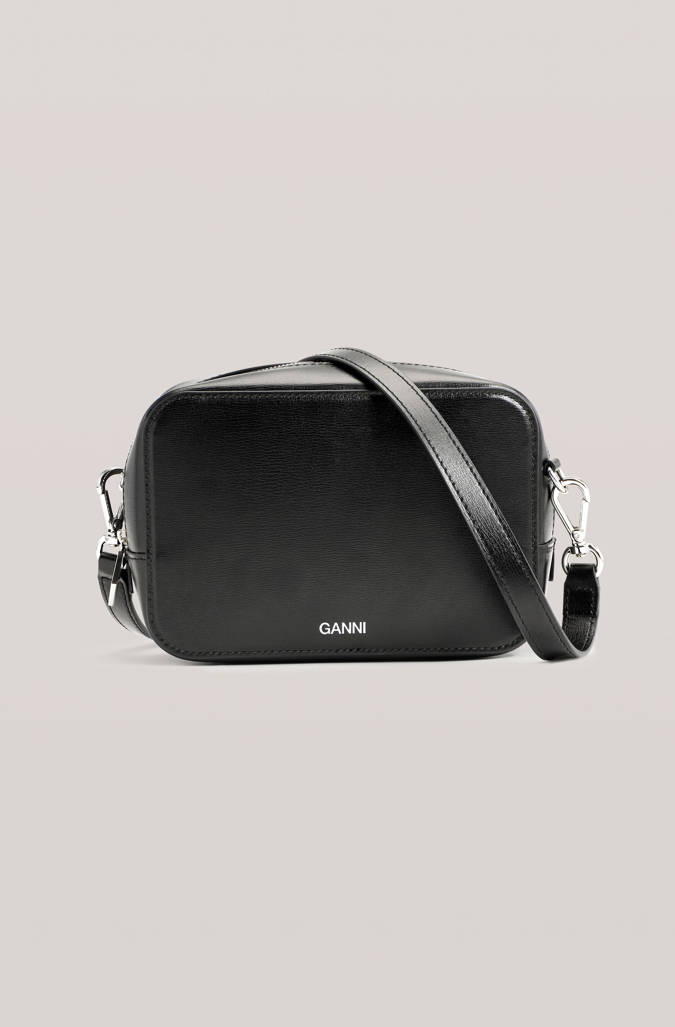 Ganni recycled Leather Bag Black