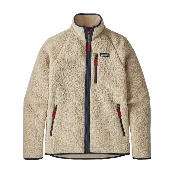 Men's Retro Pile Fleece Jacket Natural