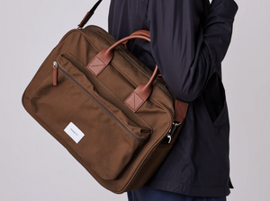 Sandqvist Emil Olive with Cognac brown leather