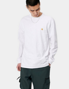 Carhartt WIP Chase long sleeve T-Shirt White