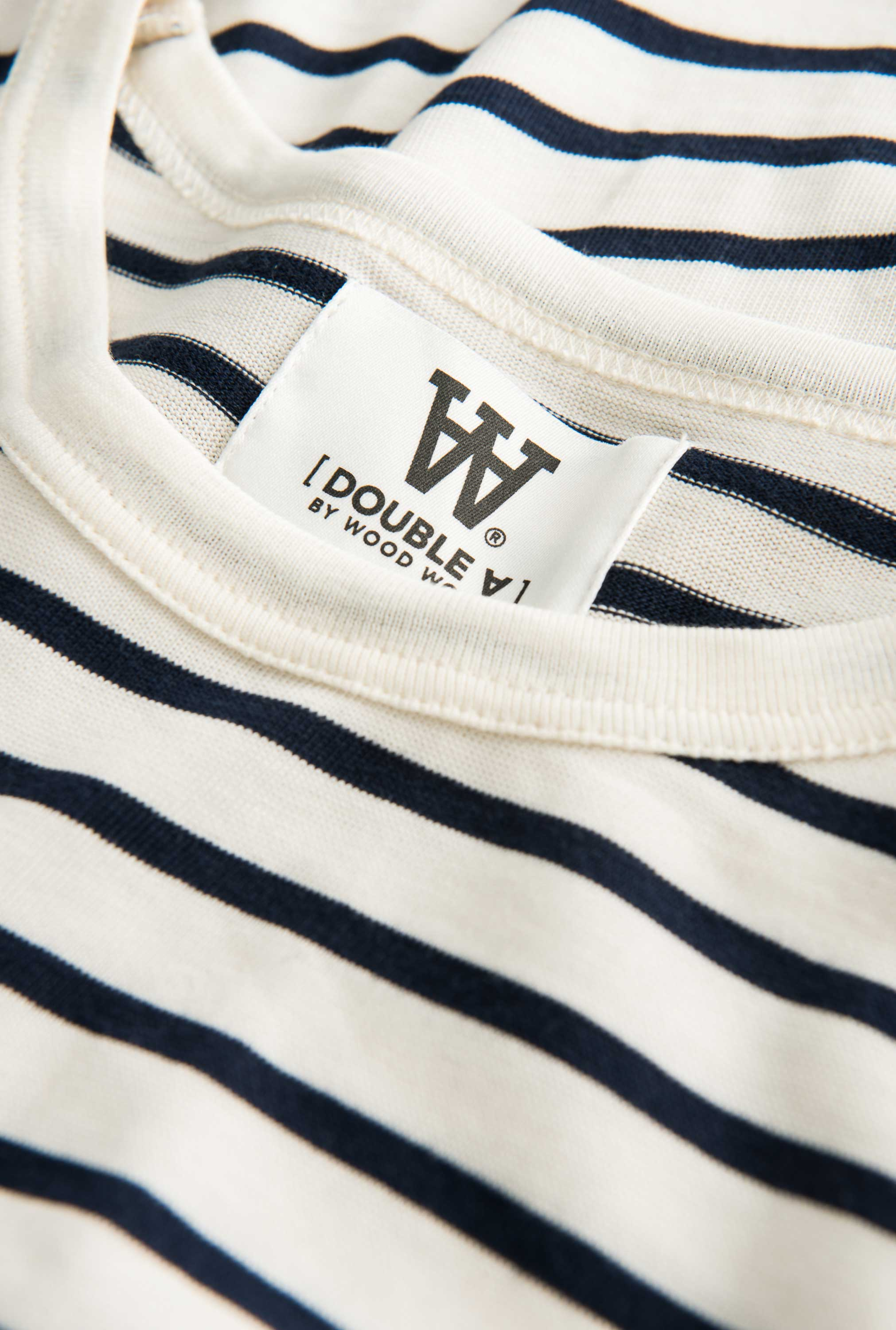 Wood Wood Mel long sleeve Off-white/navy stripes