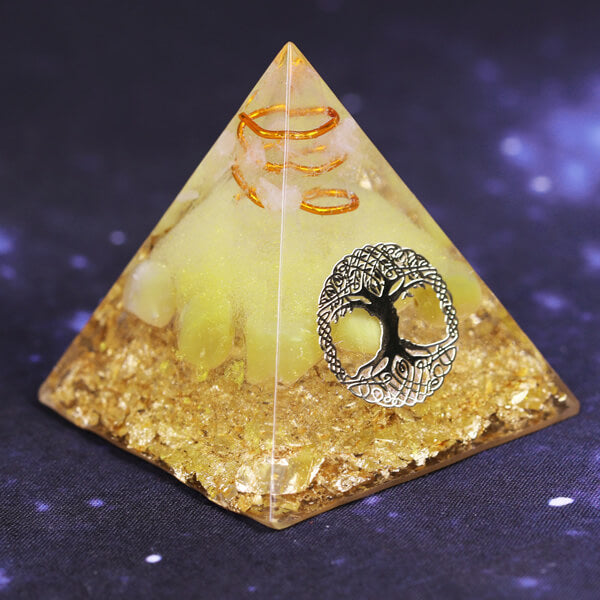 Energy Generator Orgonite Pyramid - Tree Of Life