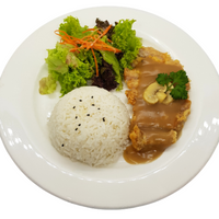 RC04 Crispy Pork Chop Rice (炸猪扒飯)